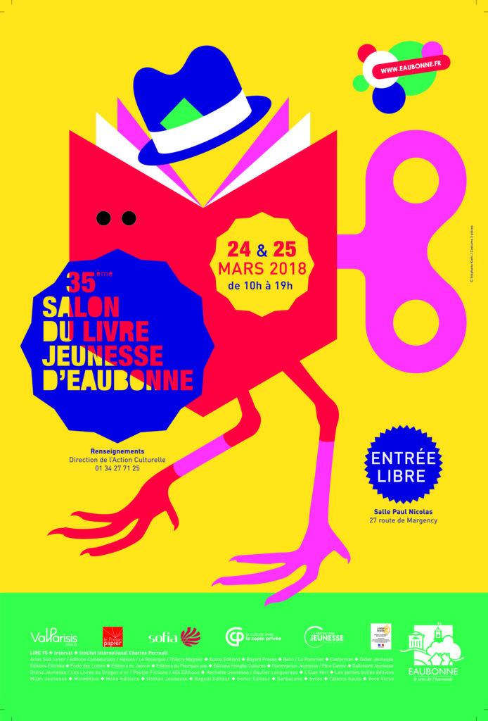 Affiche Salon du Livre Jeunesse d'Eaubonne 2018